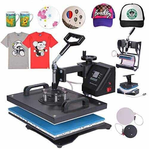 Mophorn Heat Press 5 in 1 Multifunction Sublimation
