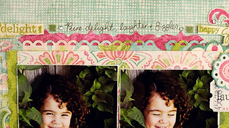 Close Up of Die Cut Borders
