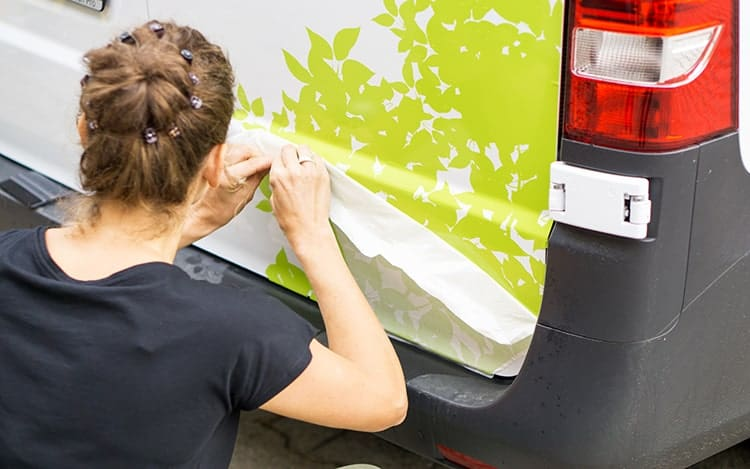 Permanent Adhesive Vinyl on Car