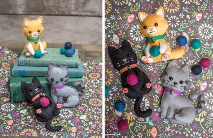 DIY Felt Craft Cats