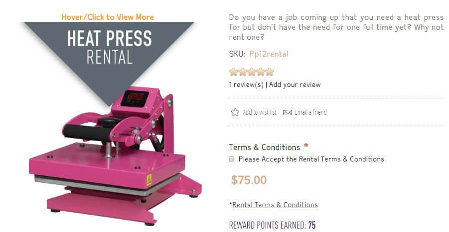 craft Heat Press Review and Rental
