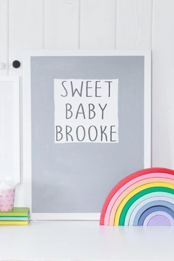 Baby+Wall+Decor+with+Cricut+-+Kingston+Crafts