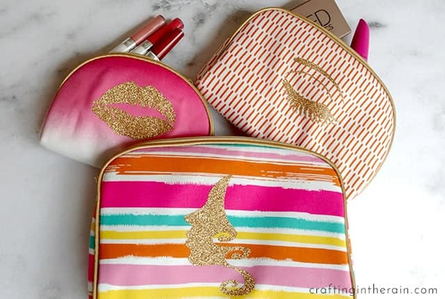 decorated makeup bags