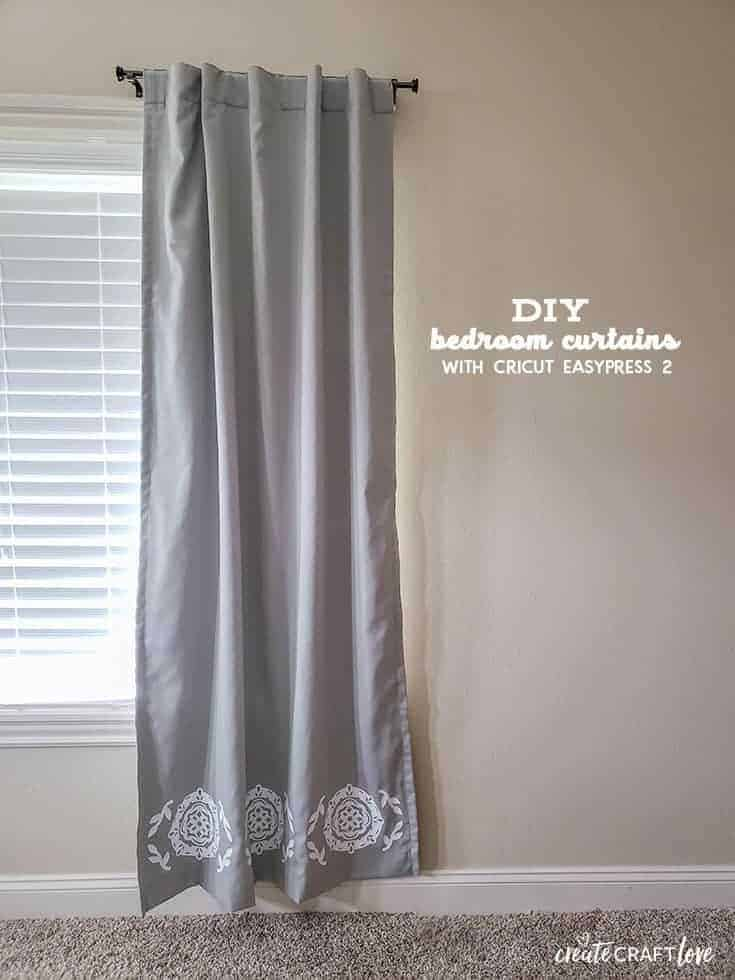 DIY Bedroom Curtrains with EasyPress Cricut