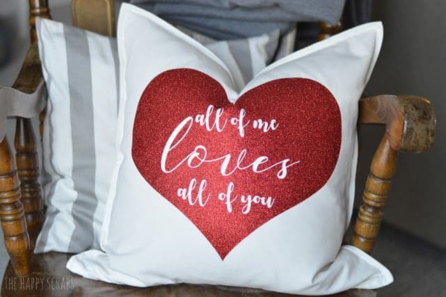 DIY Glitter Vinyl Throw Pillow
