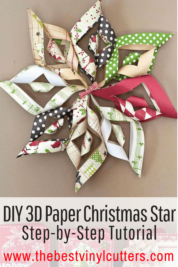 DIY 3D Christmas Star Decor Tutorial