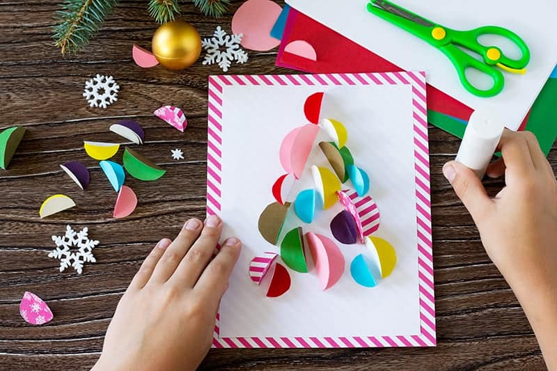 DIY Kids Christmas Card Craft