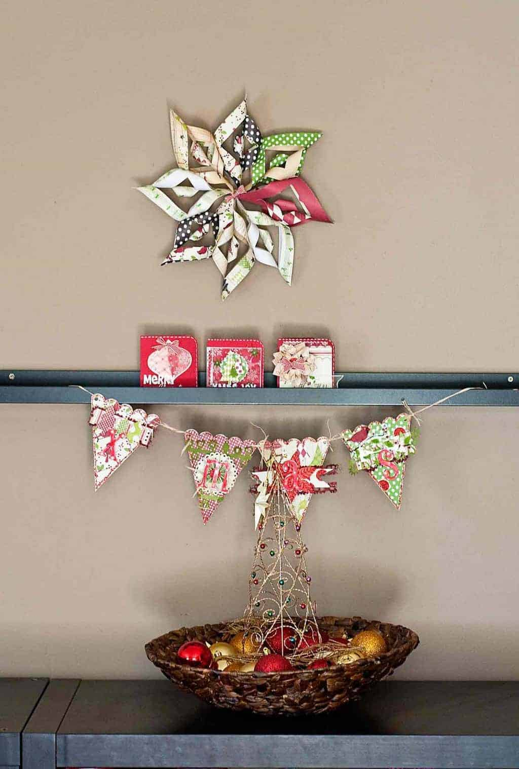 DIY Paper Christmas Star Decoration