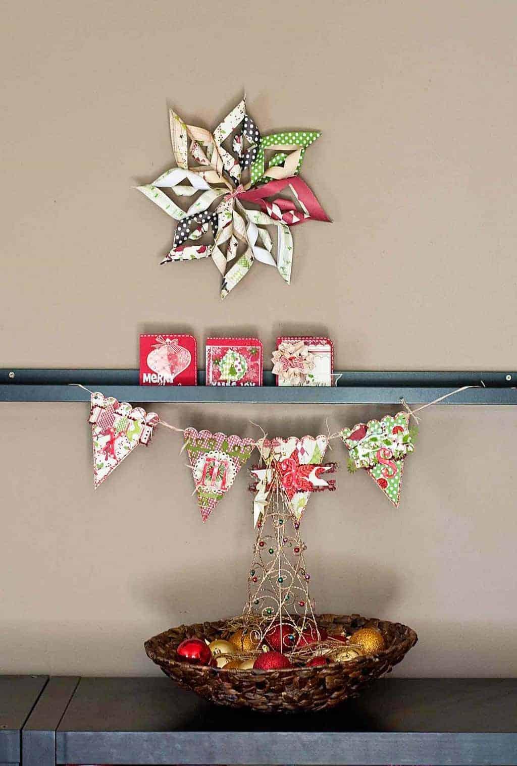 DIY Paper Christmas Star Decoration