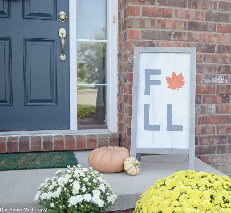 DIY Wooden Fall Sign