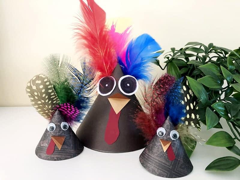 DIY thanksgiving turkey craft idea for kids