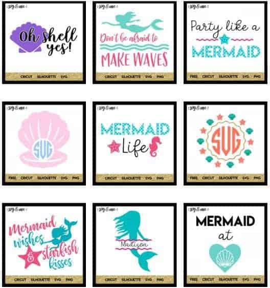 Free Mermaid Silhouette SVG Cut File