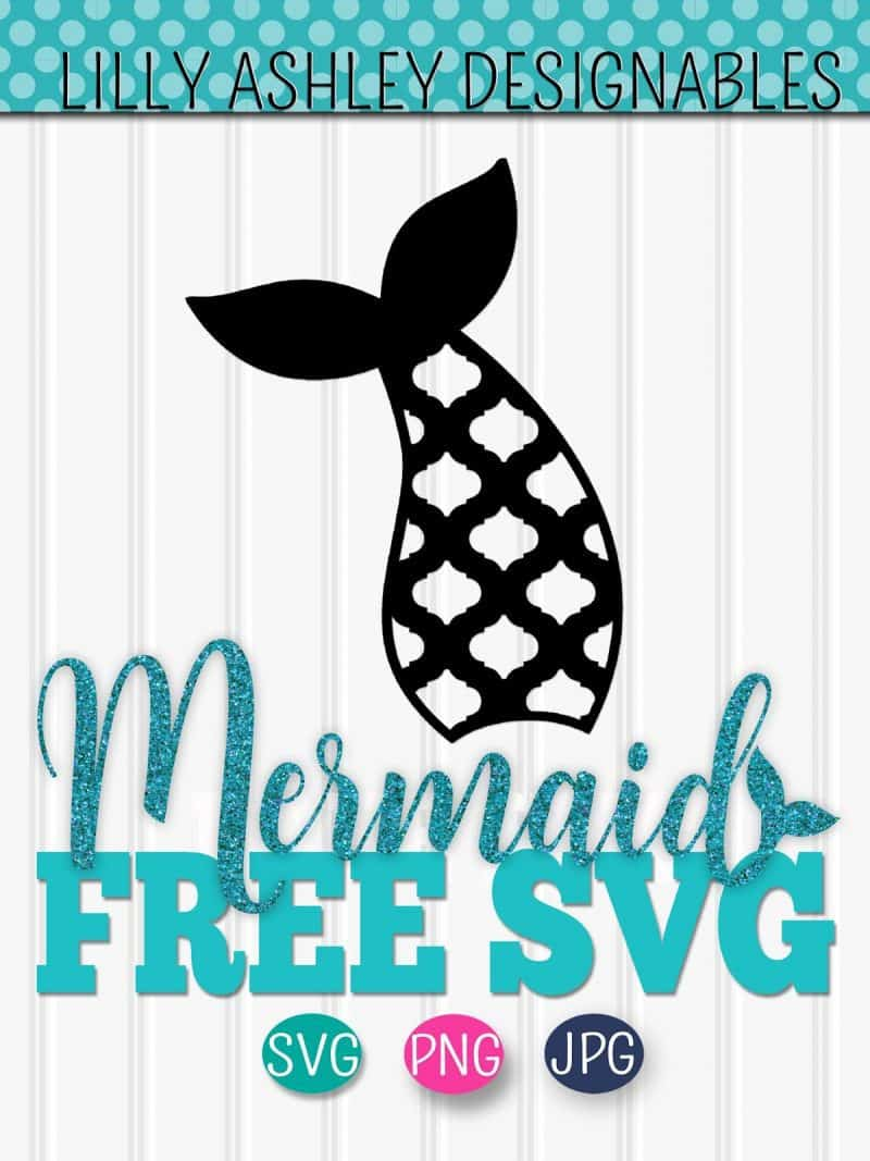 Free Mermaid Tail SVG for Silhouette and Cricut