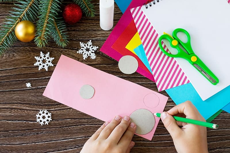 Handmade Christmas Card Craft with Kids