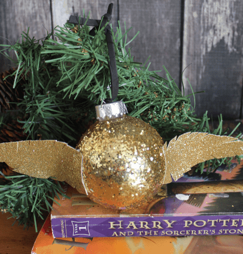 Homemade Harry Potter Golden Snitch Ornament