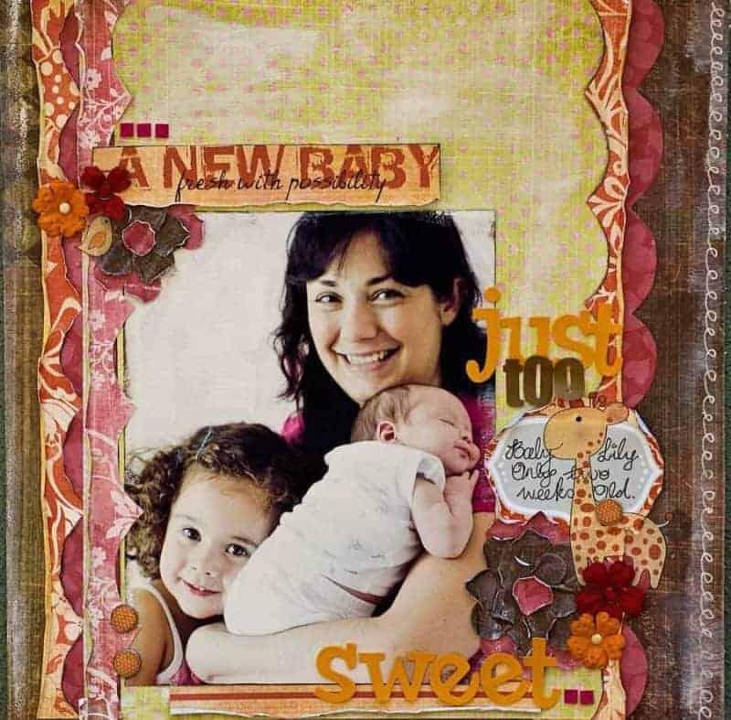 baby girl scrapbook ideas