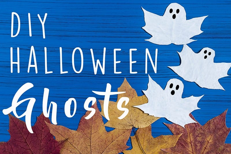 Maple Leaf Halloween Ghost Instructions