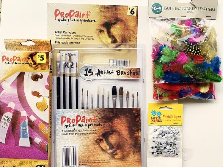 Supplies for thanksgiving kids craft