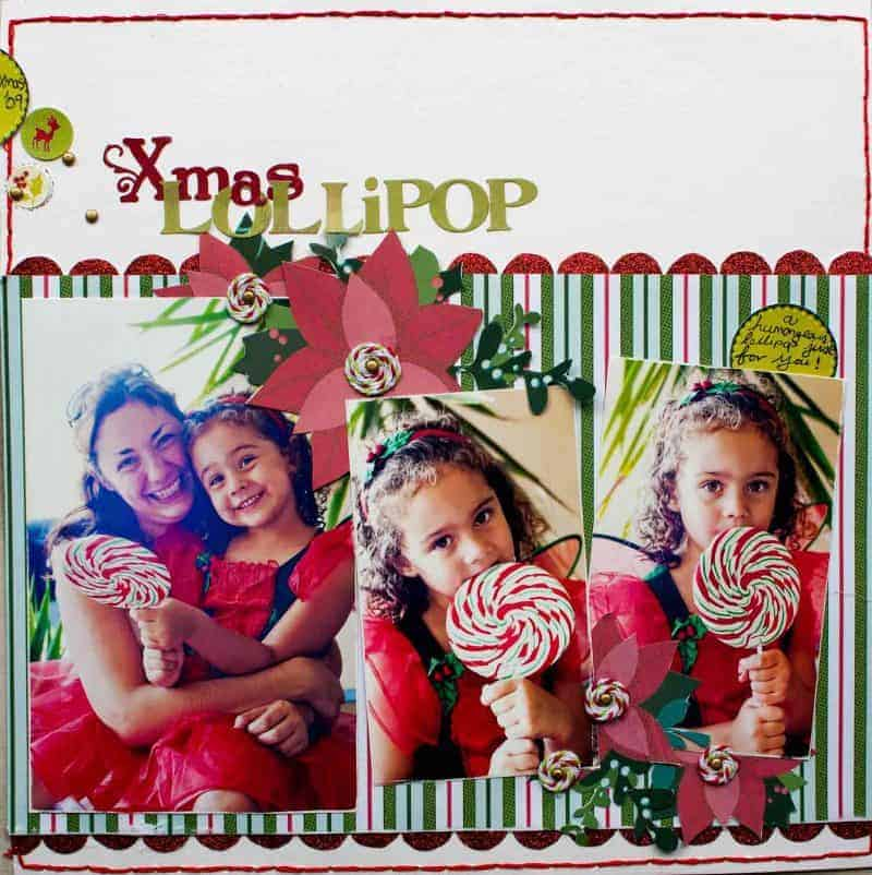 Scrapbook Christmas Layout Instructions