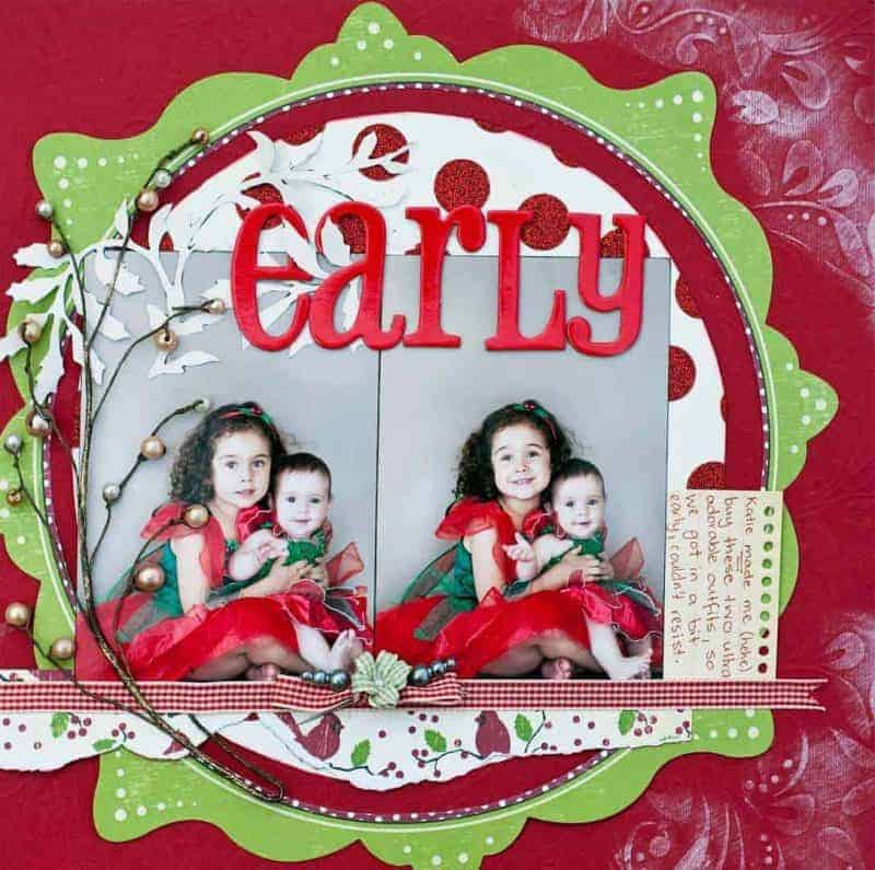 Scrapbook Christmas Layout Ideas