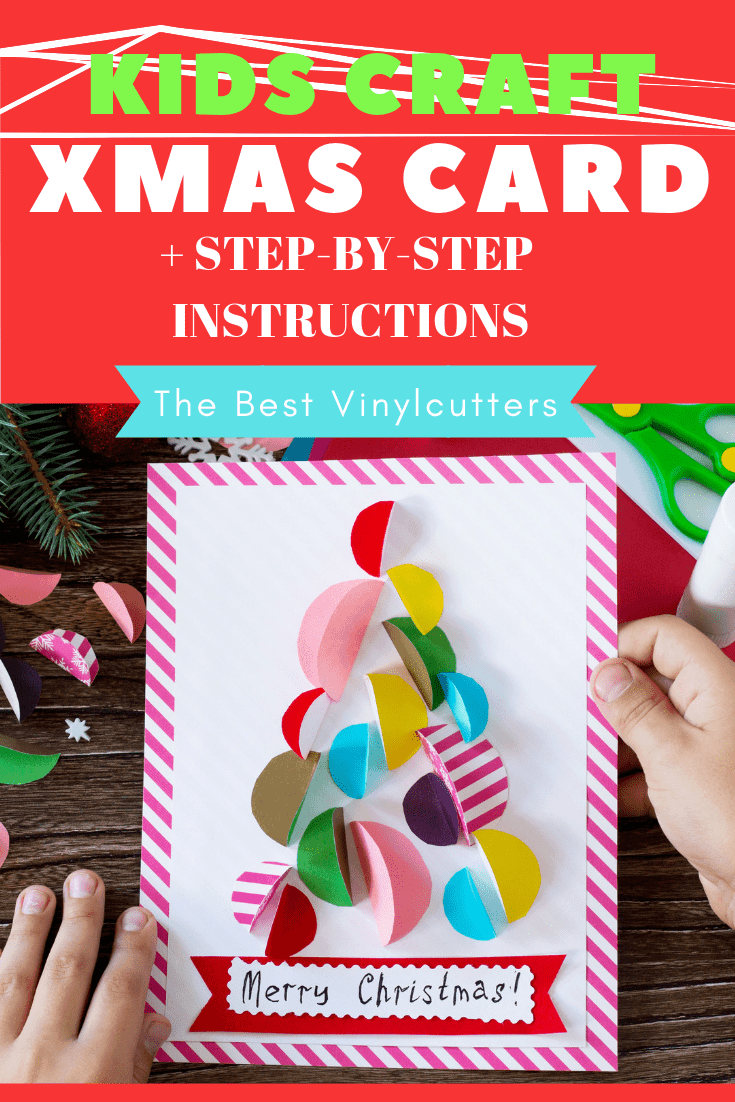 DIY Kids Christmas Card Craft with Instructions