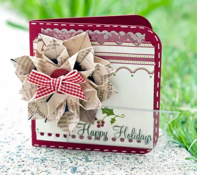 christmas card diy ideas: happy flower