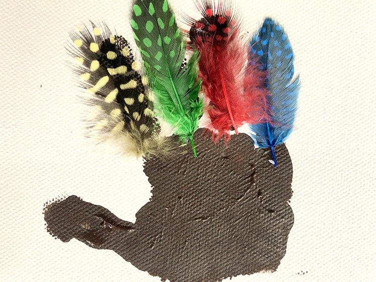 kids craft for thanksgiving -turkey handprint