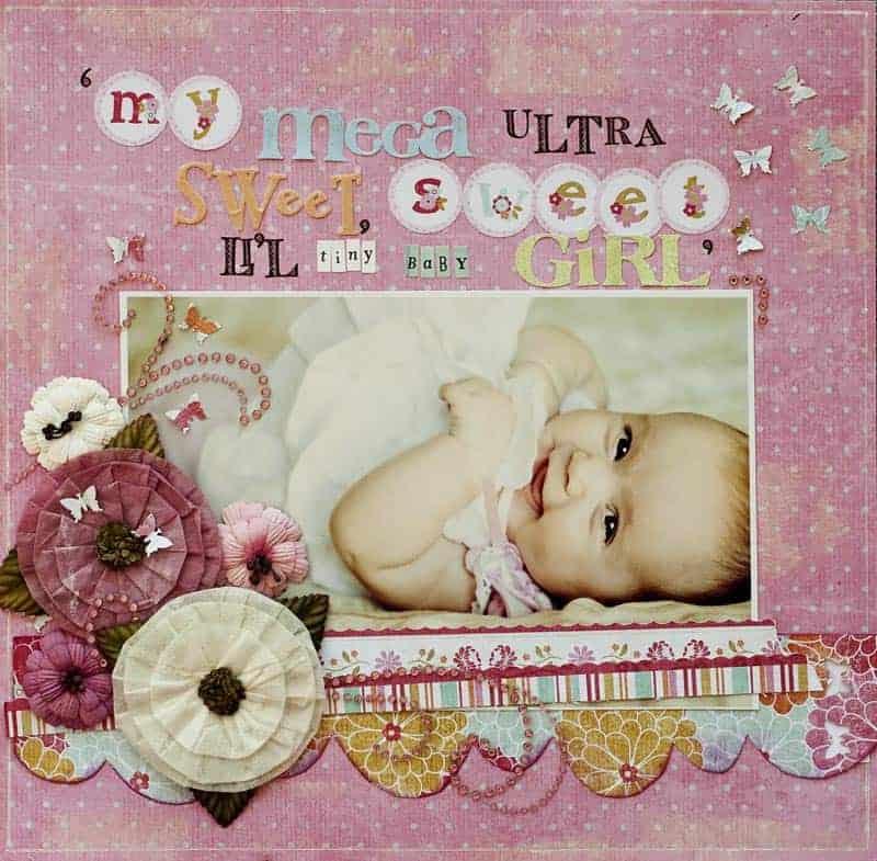 scrapbook baby album