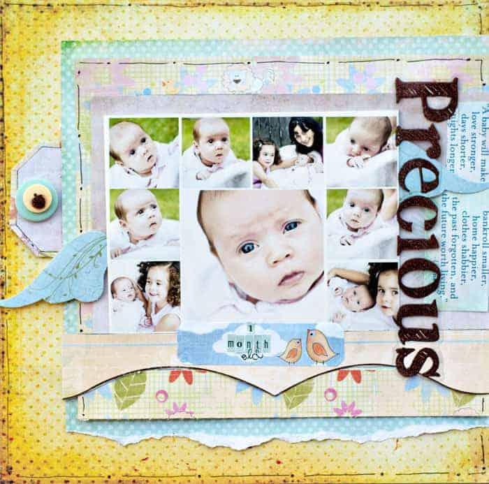 scrapbook for newborn baby