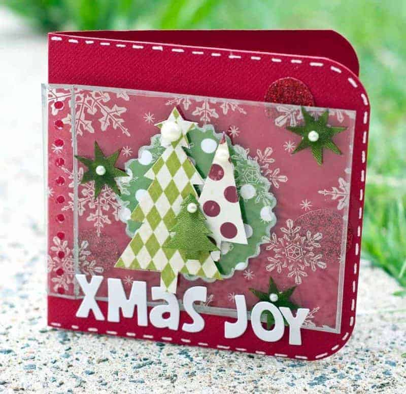 diy xmas card ideas: joy