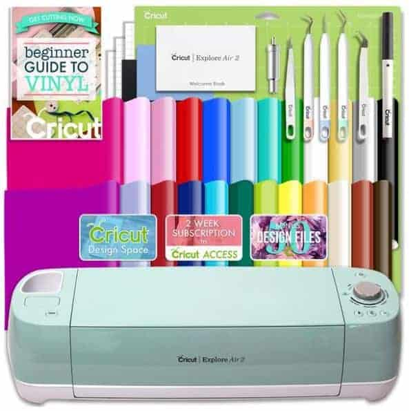 cricut air 2 bundle with cricut vinyl