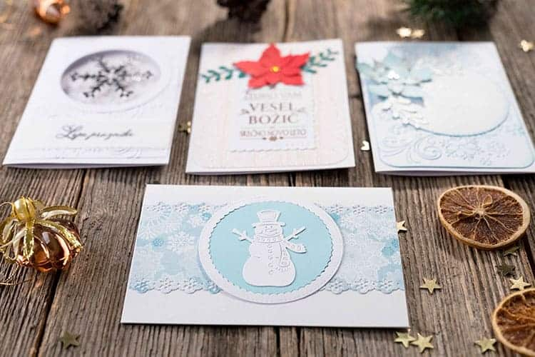 Christmas handmade cards with the Cricut Maker
