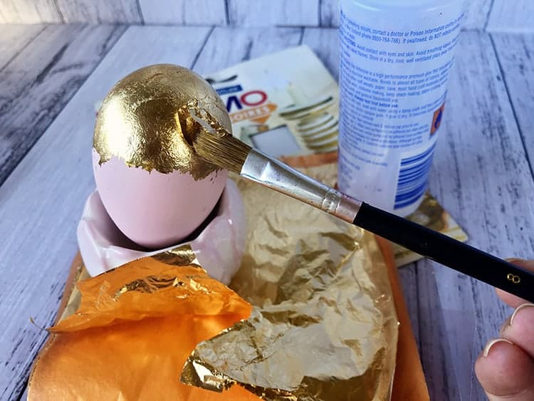 DIY Easter Eggs Designs with Vinyl and Metal Leaf