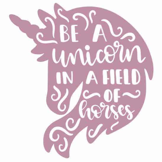 Free Unicorn Head SVG File Download