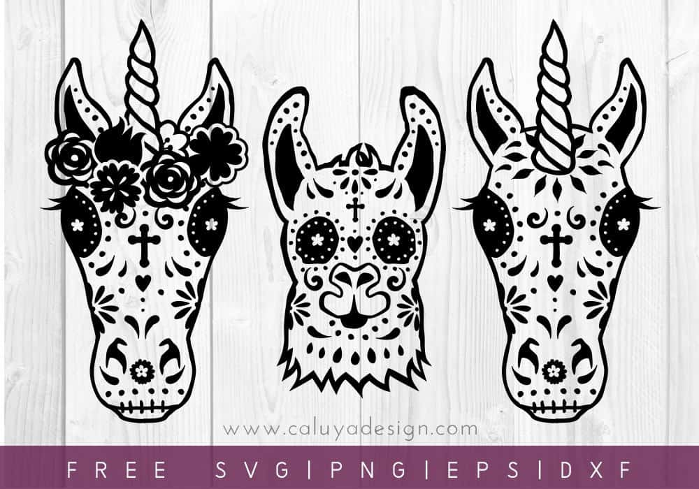 Halloween Unicorn Horse Free SVG Files