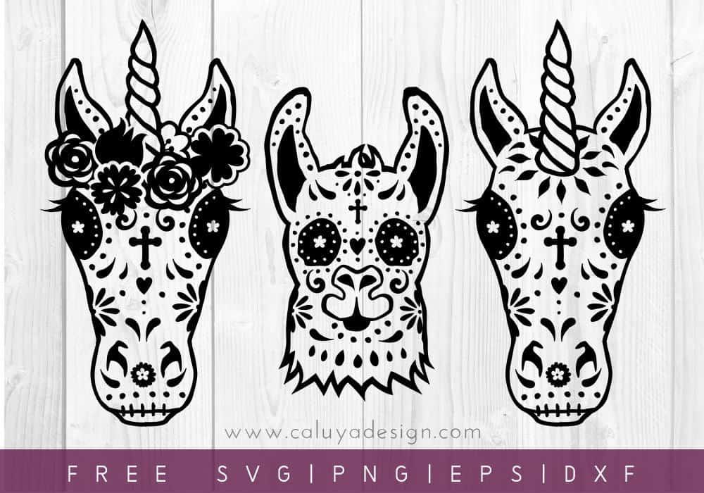 Halloween Unicorn Horse Free SVG Files