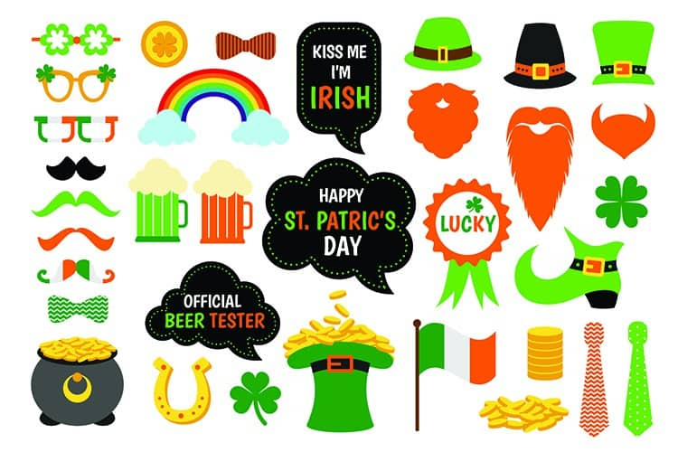 Saint Patricks Day Free Sticker Sheet