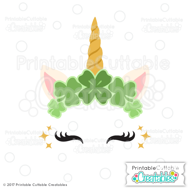 St Patricks Day Unicorn Free Cut File for Silhouette
