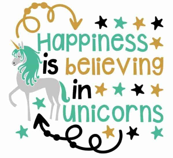 Unicorn Quote Free Download SVG File