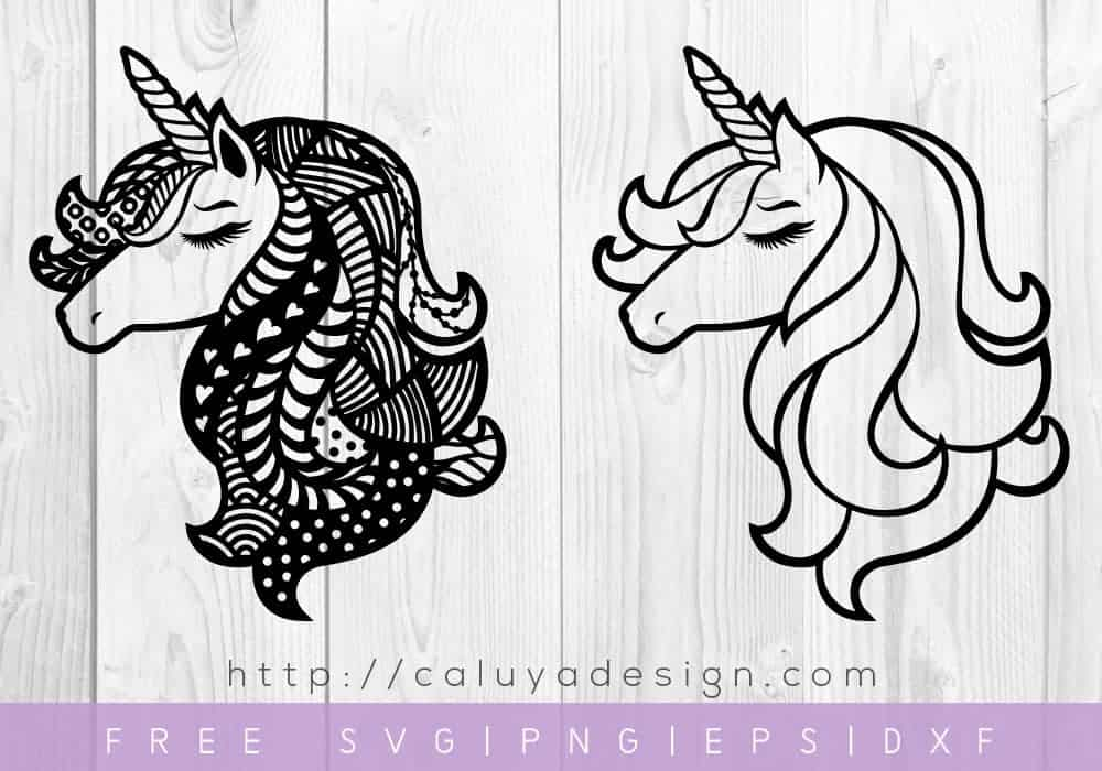 unicorn head svg file to download