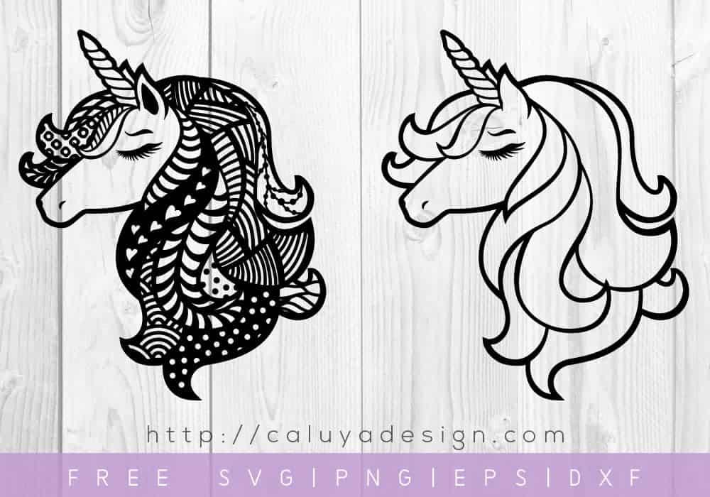 unicorn head svg file to download