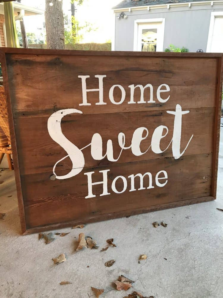 wooden signs for home