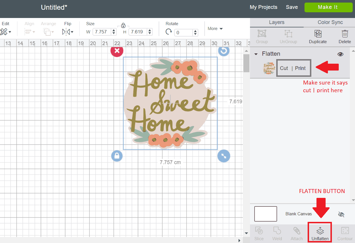 How to print then cut in Cricut