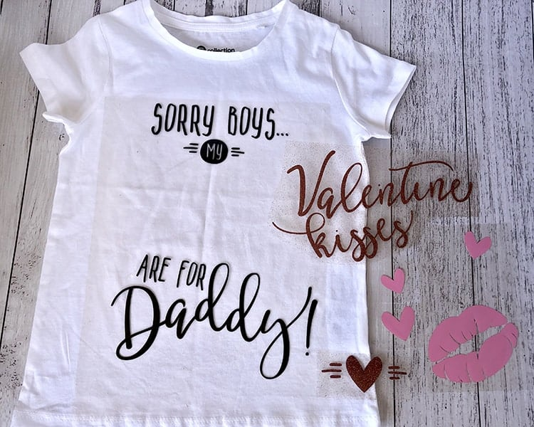 DIY HTV Valentine Shirt for Girls