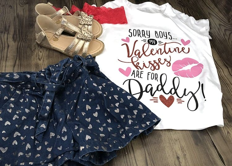 DIY Valentines Vinyl Shirt for Girls