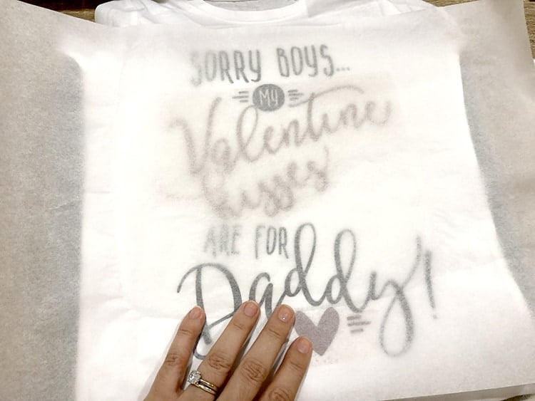 How to create layers on your Valentines HTV vinyl shirt