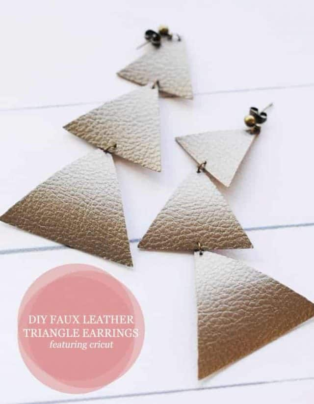 Cricut Faux Leather Projects - Earrings