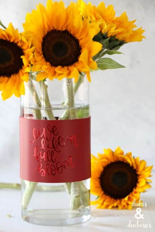 DIY Leather Vase Wrap with Cricut