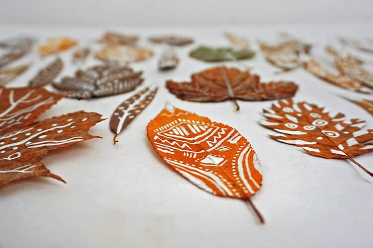 Fun Kids Fall Crafts with Leaves