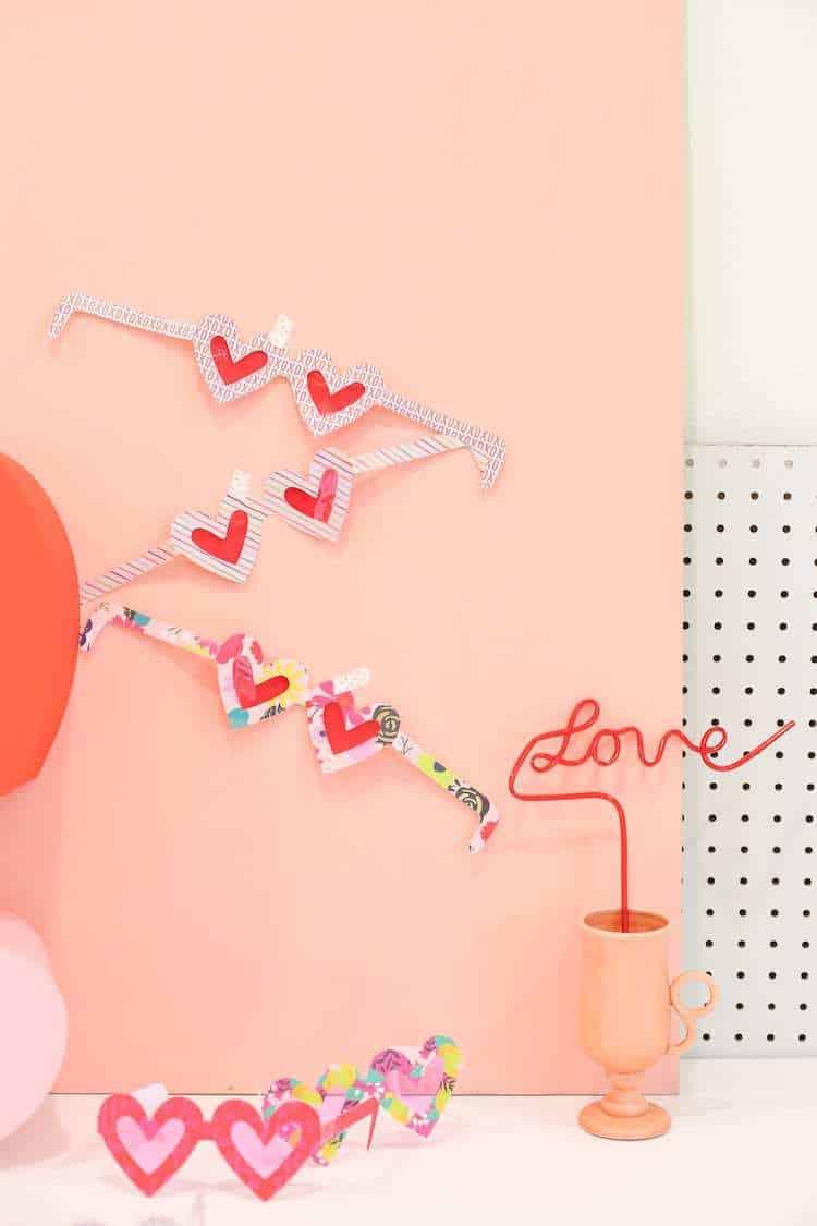 Printable Valentine Glasses
